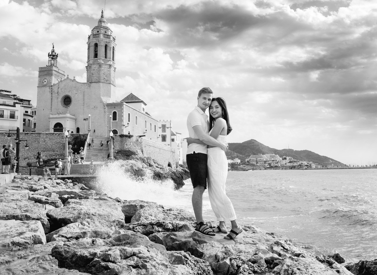Secret proposal in Sitges